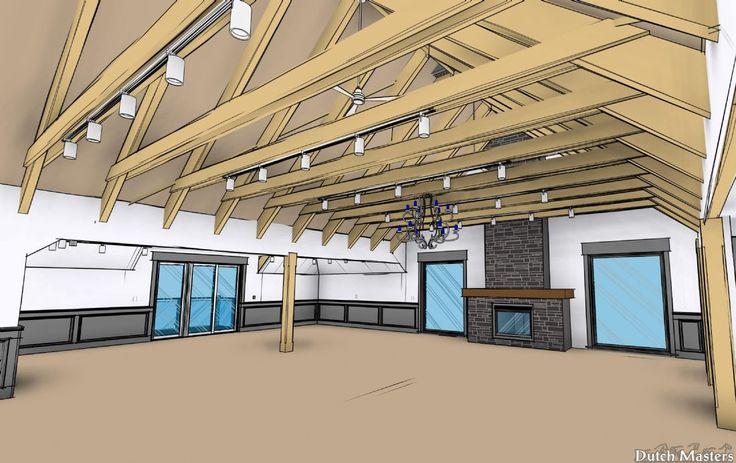 Vaulted ceiling studio