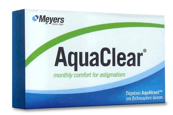 AQUACLEAR for Astigmatism 3pack - 24.80€ - Μηνιαίος αστιγματικός μαλακός φακός επαφής, υδρογέλης. Βιομιμητικός για βελτιωμένη άνεση. Προστασία UV.
