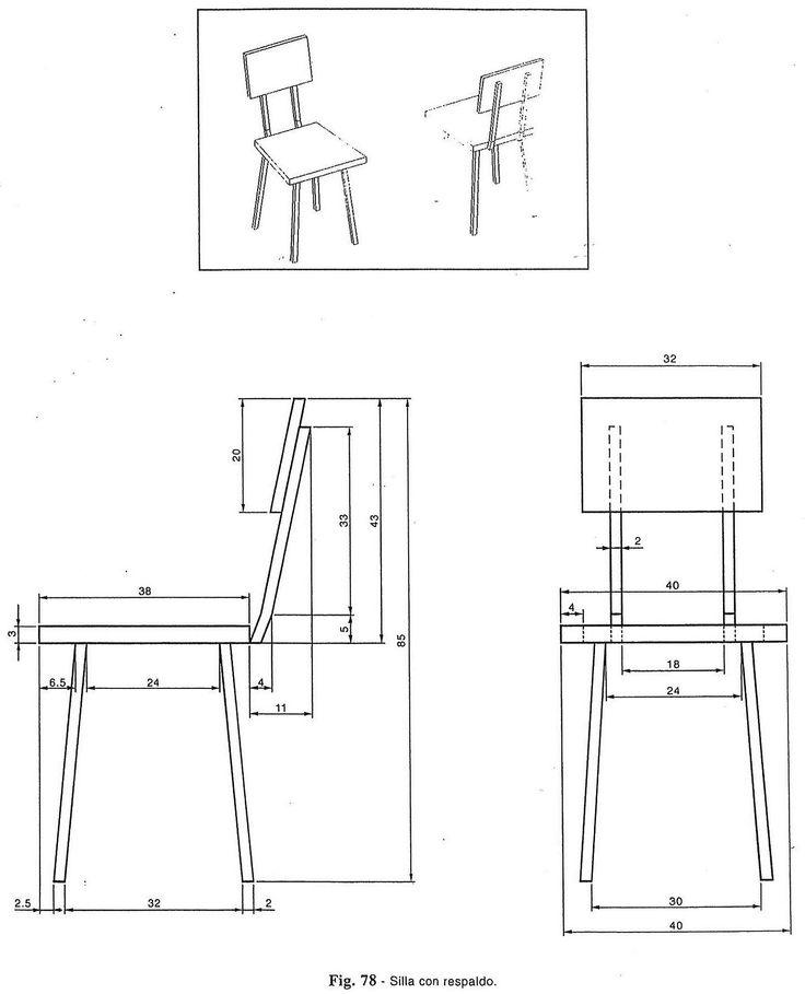 M s de 17 ideas fant sticas sobre vistas dibujo tecnico en for Sillas para planos