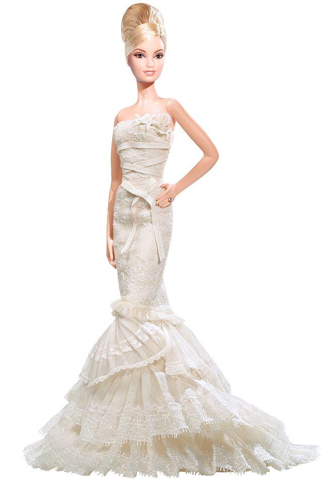 Barbie wears all the best designer wedding dresses!