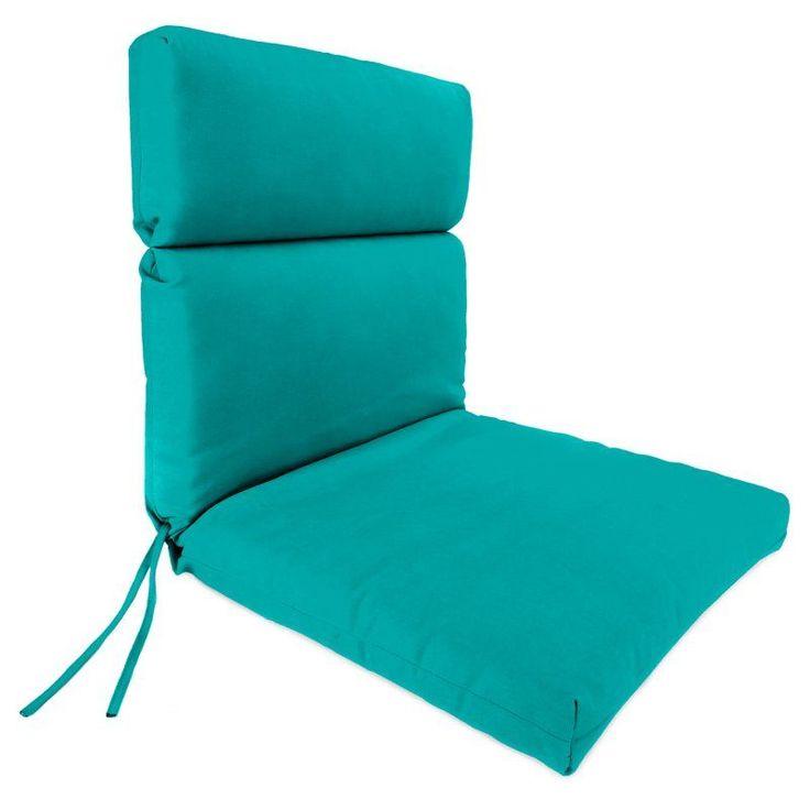 Jordan Manufacturing Sunbrella High Back 22 in. Dining Chair Cushion