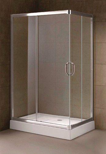 box cabina de ducha rectangular puerta corrediza 120x80 cm ...
