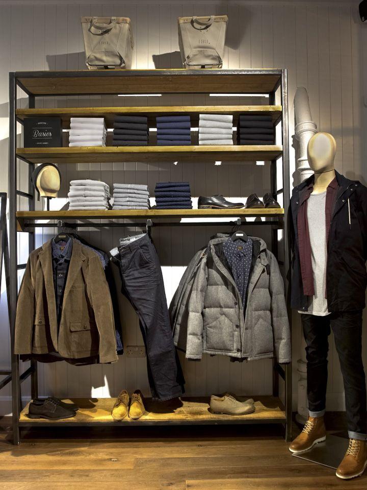 Оригинальный дизайн магазина мужской одежды Industrie store в Лондоне