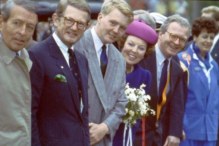 Bezoek koninklijke familie, 1991. Foto: Fotopersburo William Hoogteyling, Buren