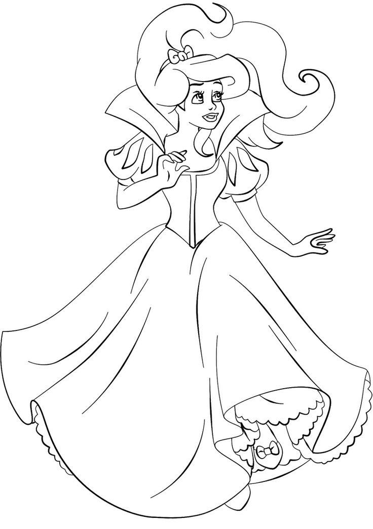 Beautiful Princess Ariel Coloring Page