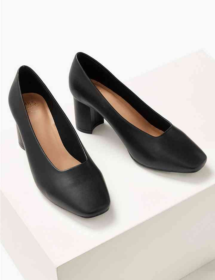 Wide Fit High Front Square Toe Court