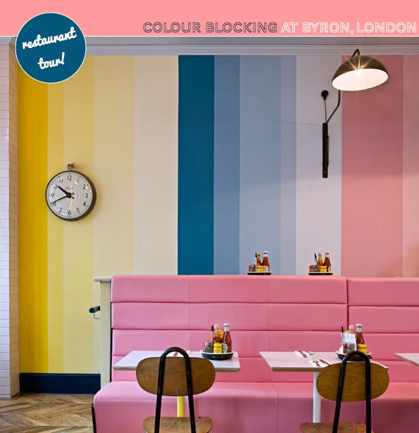 Colour Blocking Brights: Bryon Restaurant – Bright.Bazaar