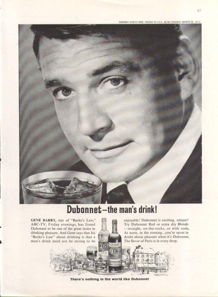 0 Gene Barry for Dubonnet Aperitif Wine ad 1964