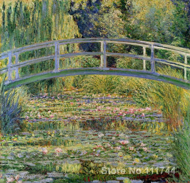 The Japanese Bridge (The Water Lily Pond) Claude Monet Paintings for sale wall art High quality Hand painted