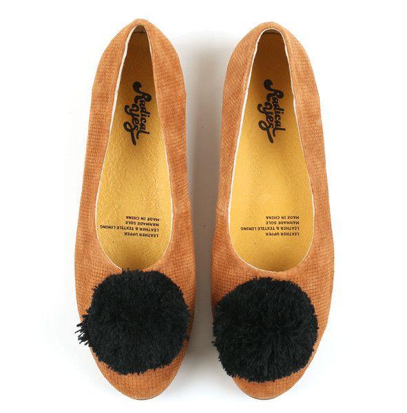 Radical Yes - Double Wonder Camel Emboss Pom Pom Shoe