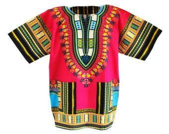 Dashiki africano camisas camisas africanas camisas tribales caftán estilo tradicional Dashiki varios colores Boho Unisex superior camisas.