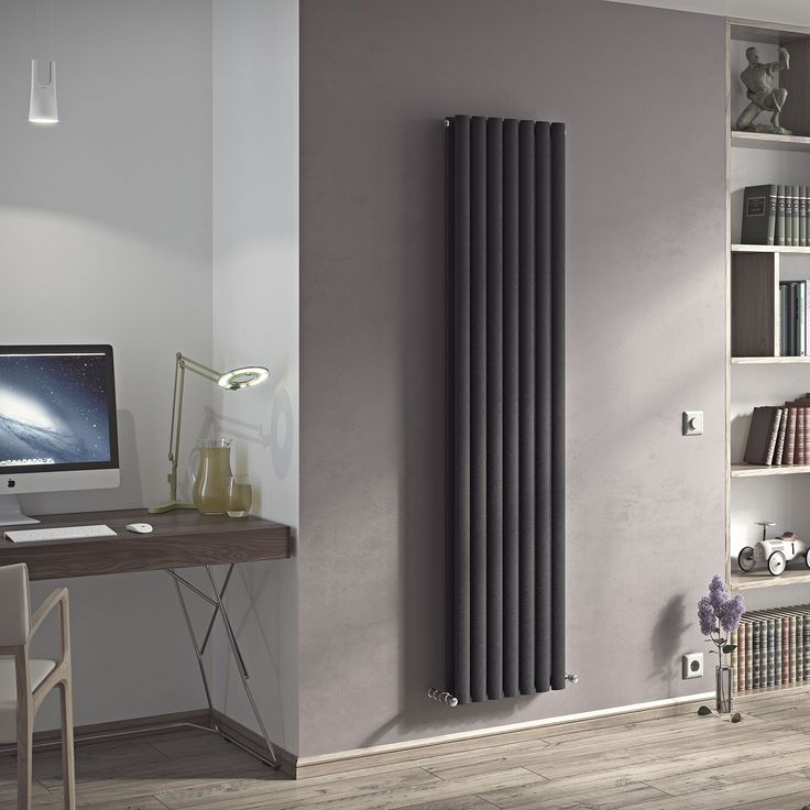 £278 Ximax Champion Duplex Vertical Radiator Anthracite, (H)1800 mm (W)410mm | Departments | DIY at B&Q