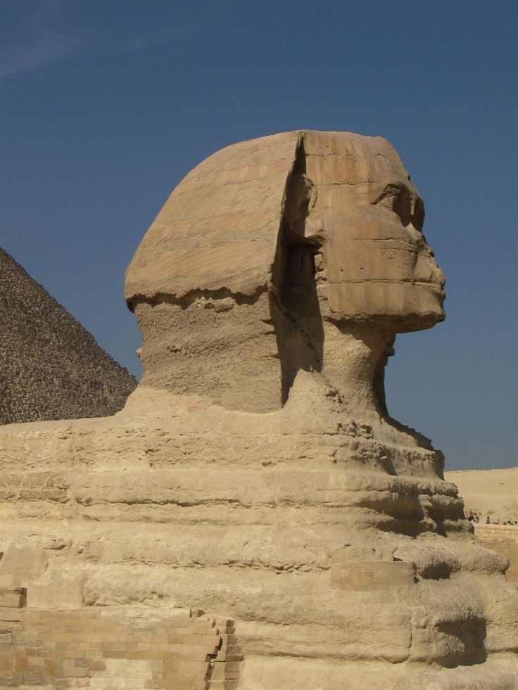 The Sphinx--a must-see for first-time visitors to Cairo.