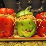 Pimientos rellenos de Halloween, la alternativa sana. Dieta Online. Recetas fáciles para halloween.