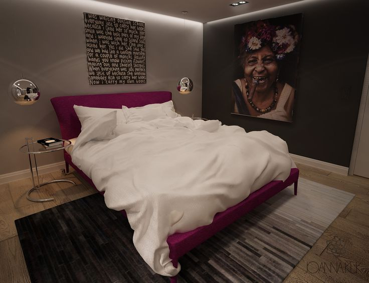 Jedna z propozycji sypialni w domu pod Krakowem