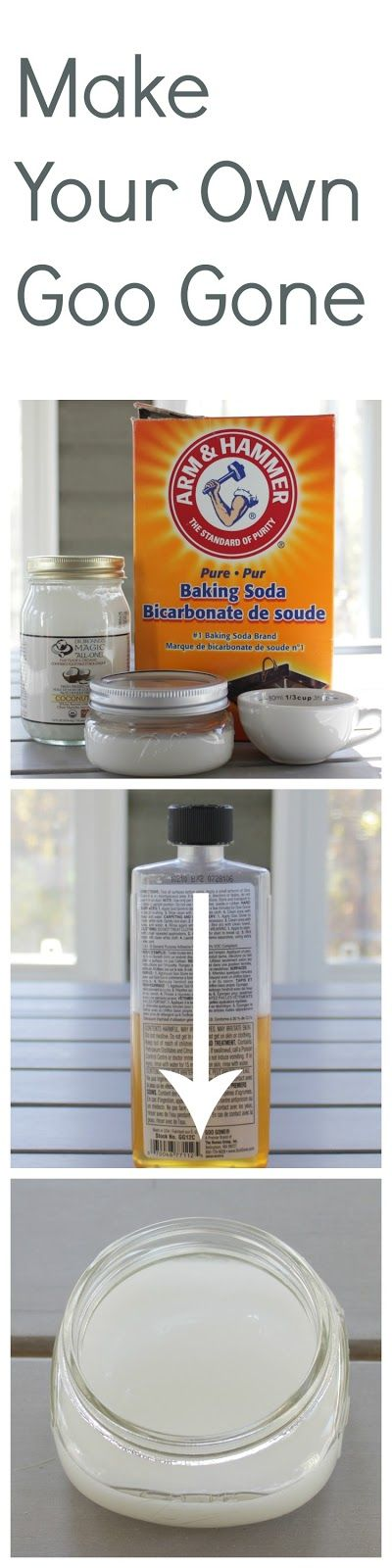 Homemade Goo Gone - make your own to remove stubborn stickers - the best part is there are no harsh chemicals in this mixture.
