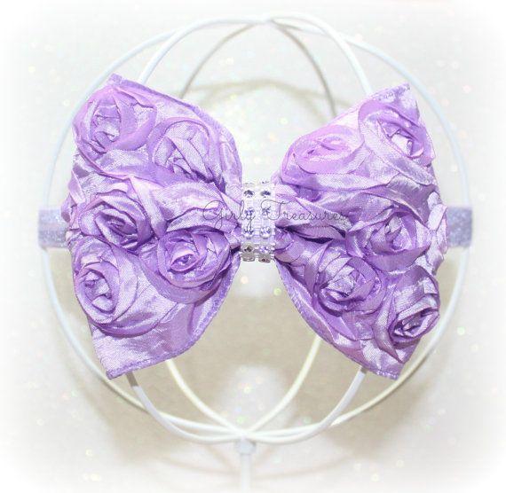 Lavender Boutique Rosette Headband. Newborn by GirlyTreasures, $12.99