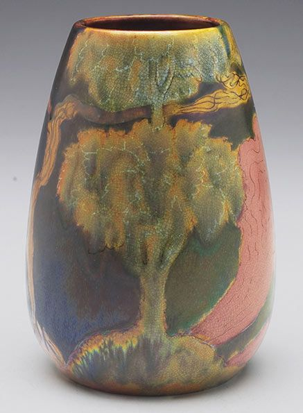 Zsolnay vase with bulbous shape  (  Treadway Galleries )
