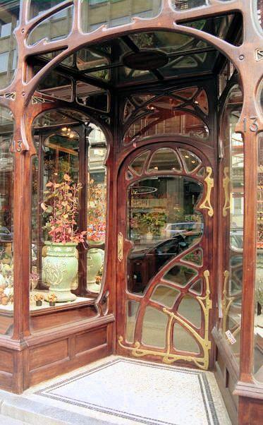 Belle Epoque - Brussels, Art Nouveau architecture - organic design. Paul Hankar, XIX century