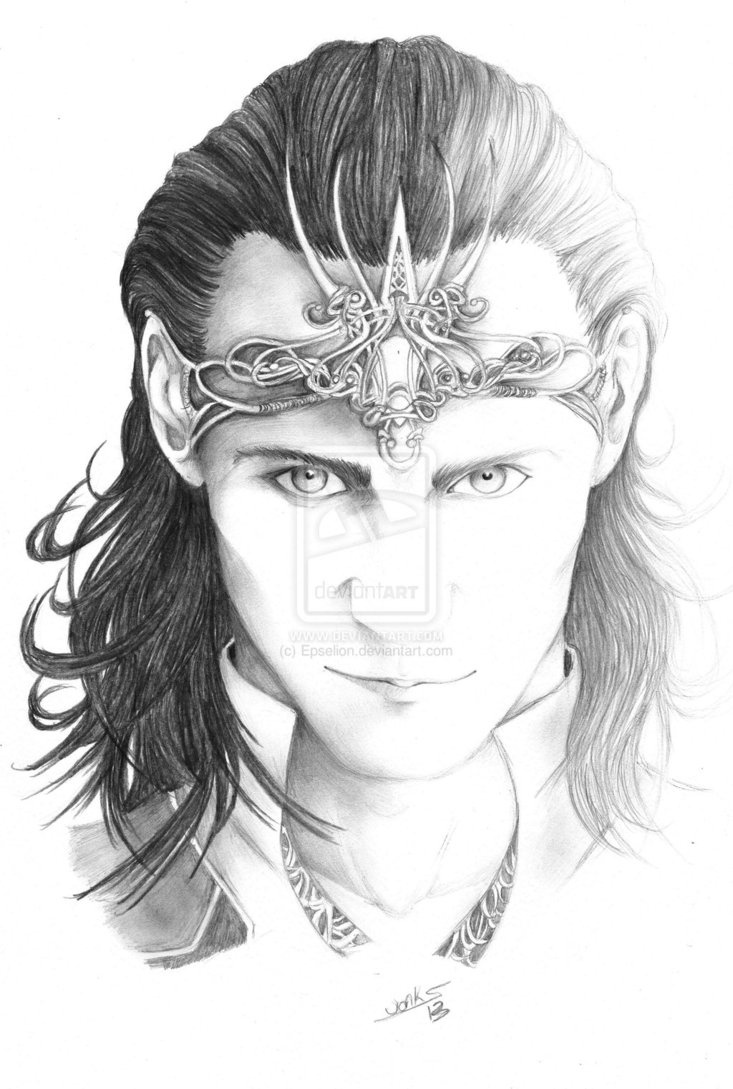 Ice cold by *Epselion on deviantART [Yes it's Loki, but I just want that crown!]