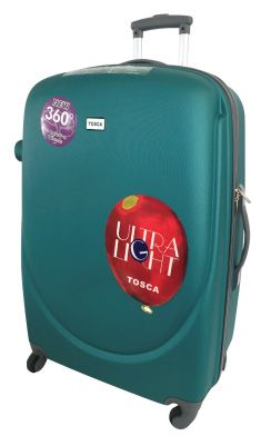 Tosca Orbit ABS Trolley Cases  Super Lightweight, ABS construction, Fully Lined, 4 wheel Spinner, Push Button Handle, Zip Locking Sliders  Buy securely online at https://www.luggageladies.com Orders delivered in 3-4 working days. Available in Black, Purple, or Emerald