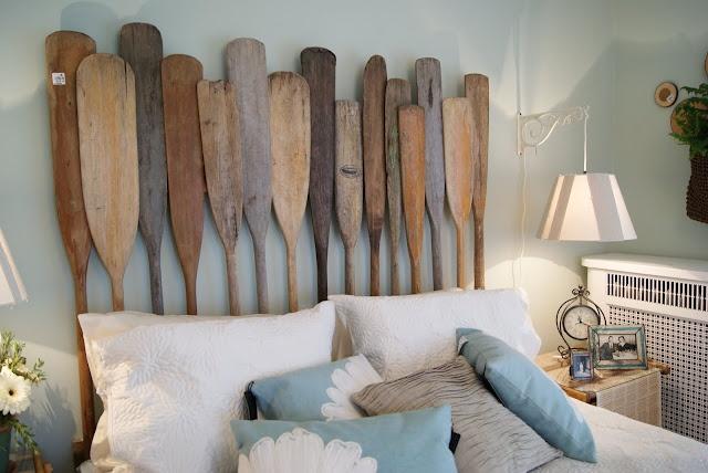 Headboard made of oars & paddles!