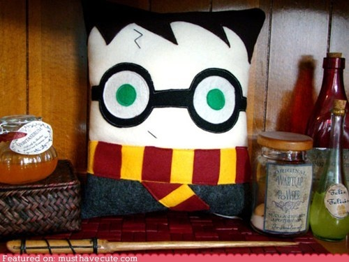 harry potter pillow plush decoration inspired by by telahmarie