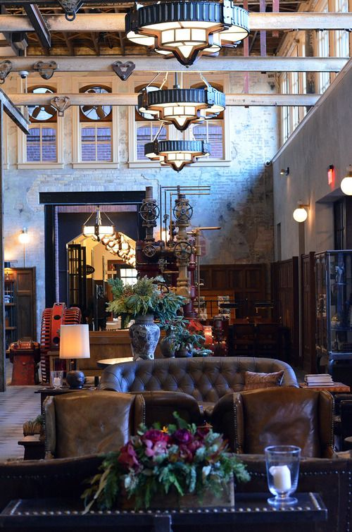 Hotel Emma, San Antonio- we just went inside to tour the place and it is seriously the coolest hotel. They also have a restaurant and bar inside as well.