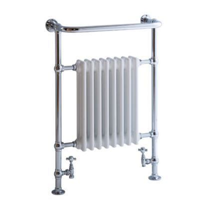 Blyss Victoria Traditional Towel Warmer Chrome Effect (H)952 (W)675mm: Image 1