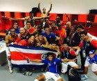 Costa Rica celebró en el camerino