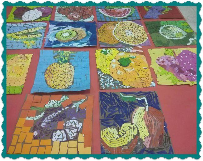 Paint Chip Mosaics: 6th Grade