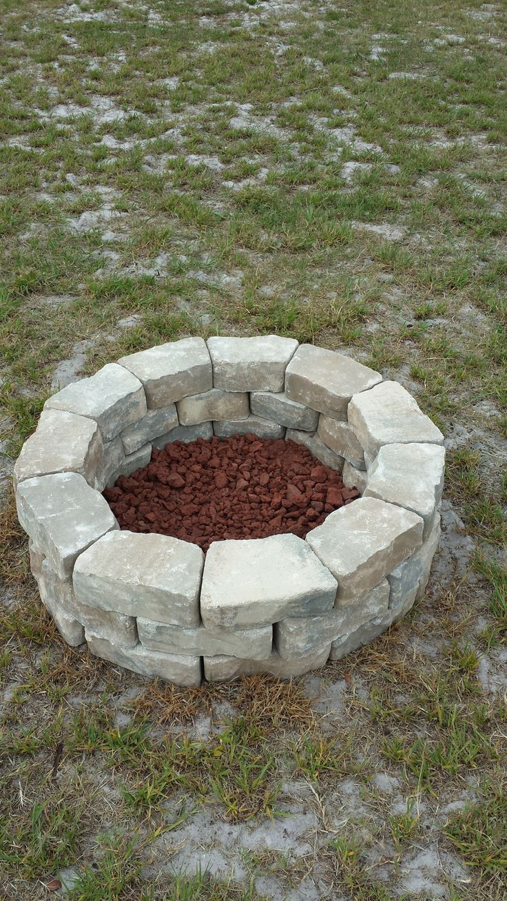 Do it yourself fire pit. Easy & Cheap. Cheap outdoor