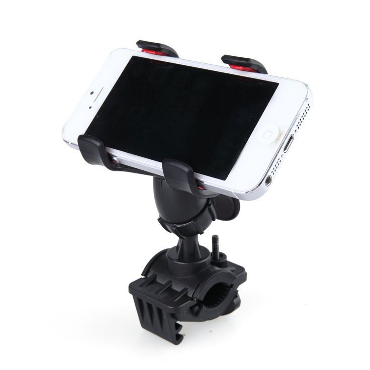 360° Rotatable Bicycle Bike Phone Holder Handlebar Clip Stand Mount for iPhone Ipod Samsung HTC other Cellphone GPS MP4 MP5 (Black). 1.Can hold phones, GPS, MP4, ipod and other electronicdevices, the width of which can be up to 9cm. Makes your phone or other devices stay close to your hands and easy to get it when driving. 2.Good performance, keeping your devices stable.360°rotatable steering linkage design. 3.Double clamps with silicone mats to hold your phones or other devices and…
