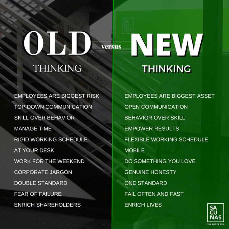 Old thinking vs NEW thinking - #standout