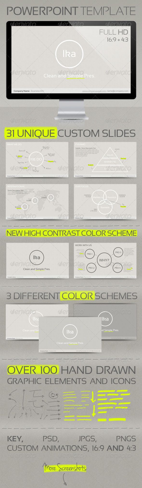 Presentation Templates - Ika - Clean and Simple Presenation Template | GraphicRiver