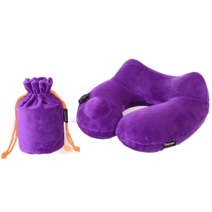 LaNan Automatic Inflatable Travel Pillow 3D Hump Design U Shaped Pillow, Purple - intl<BR><BR><BR>shop-travel-pillows<BR><BR>http://www.9mserv.com/detail.php?pid=2654956&cat=shop-travel-pillows