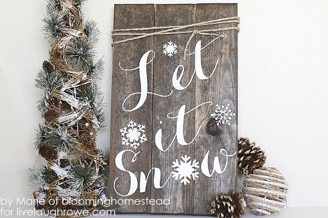 30 Rustic Farmhouse Christmas DIY Projects - A Hundred Affections