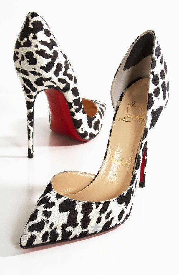 Dalmatian high heels with red soles . Find this Pin and more on Louboutin's  ...