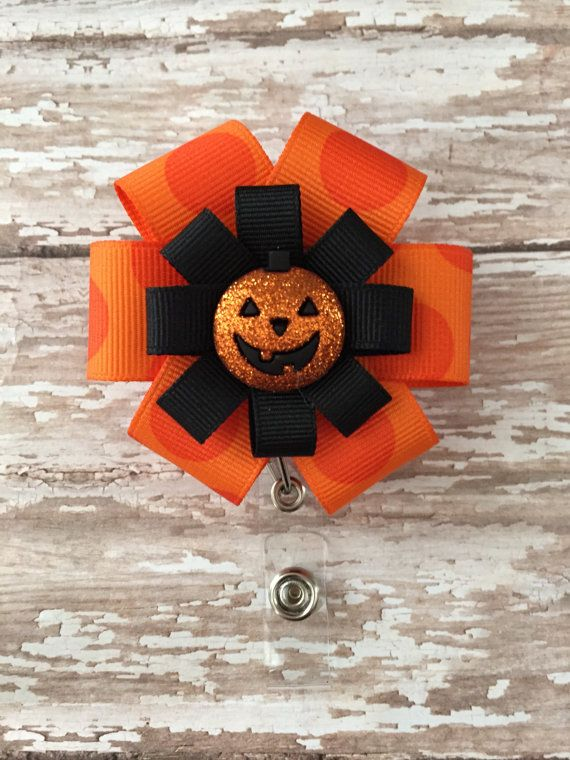 Halloween Retractable Badge Holder by marimaricollection on Etsy