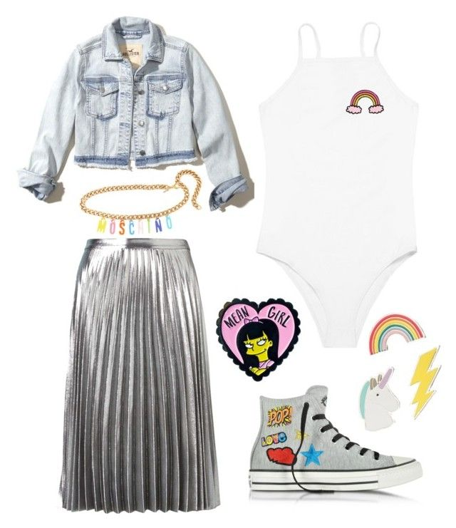 """""""eclectic pop style   AK97"""" by ak-97 on Polyvore featuring Witchery, Hollister Co., Converse, Red Camel and Moschino"""