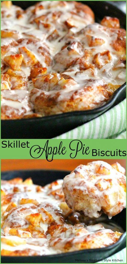 Skillet Apple Pie Biscuits (this is a cool recipe, because she gives directions for both a quick n easy method with store-bought ingredients as well as for homemade biscuits and apple pie filling)