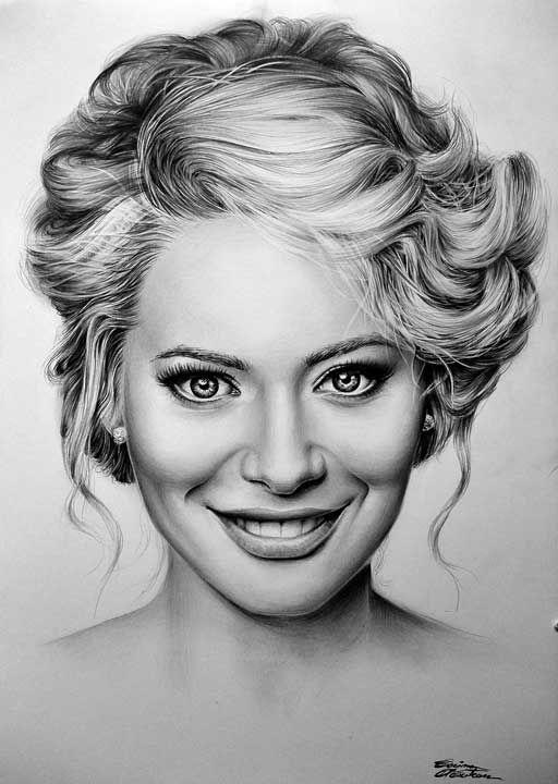 Laura Coșoi - Desen în Creion de Corina Olosutean // Laura Coșoi - Pencil Drawing by Corina Olosutean