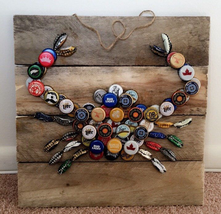 25 unique crab decor ideas on pinterest de profundis for Can beer bottle caps be recycled