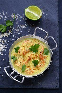 Un dejeuner de soleil: Curry de gambas à la noix de coco