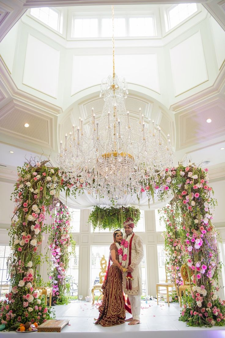 luxury wedding canopy | wedding ideas for a lux wedding | green and pink floral ideas