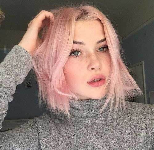 12 Pale Pink Short Hairstyles – #girl #hairstyles …