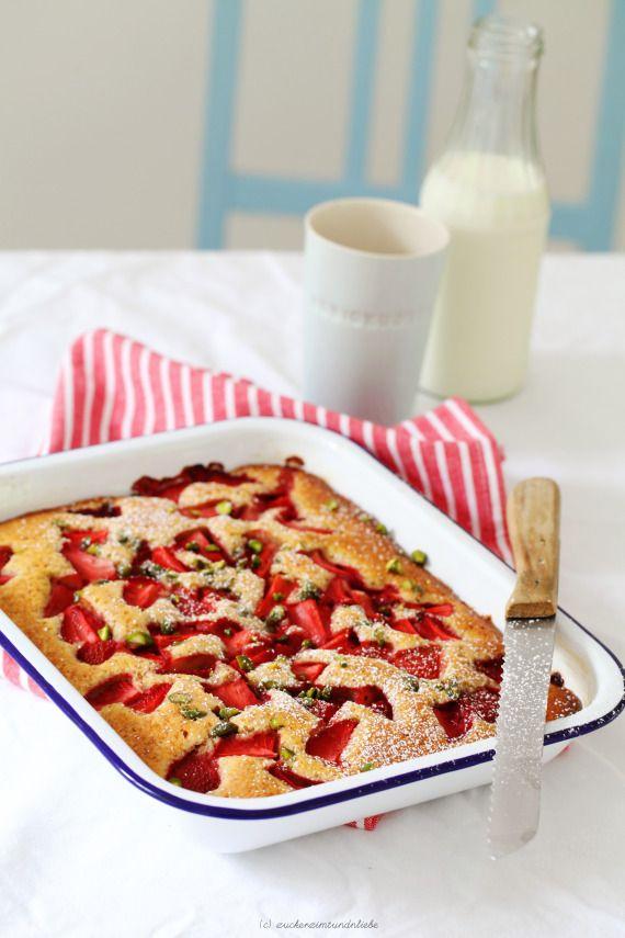 Erdbeer-Buttermilch-Kuchen