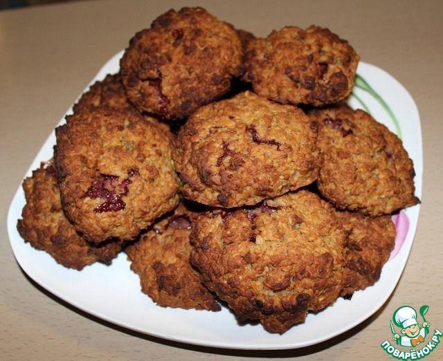 Овсяное печенье с клубникой - кулинарный рецепт