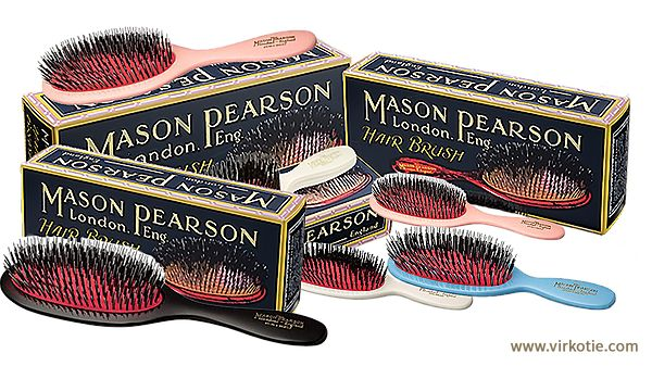 MASON PEARSON London. Eng. HAIR BRUSH Collection @VIRKOTIE