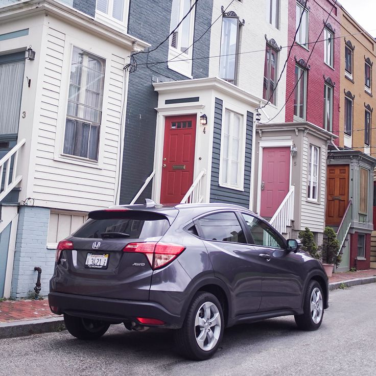 It's a great day to drive around the neighborhood in the Honda HR-V Crossover.